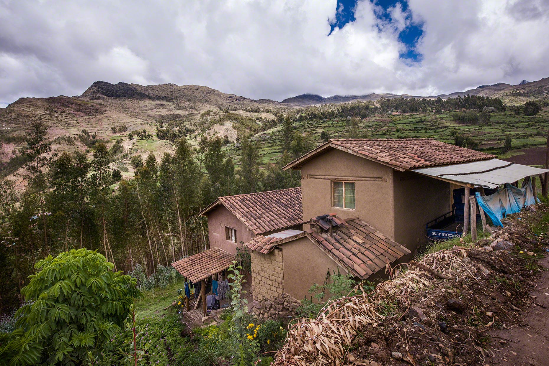 Casa De Reyes:The Reyes family home, in the highland community of Sacaca above above the Sacred Valley in the Peruvian Andes, approximately 9500 feet above sea level.